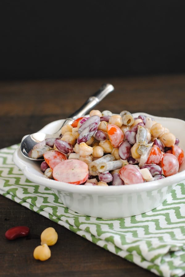 Three Bean Salad with Yogurt-Buttermilk Dressing