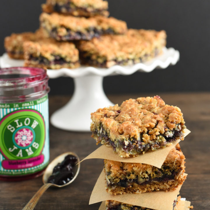 Blueberry & Pecan Oatmeal Bars