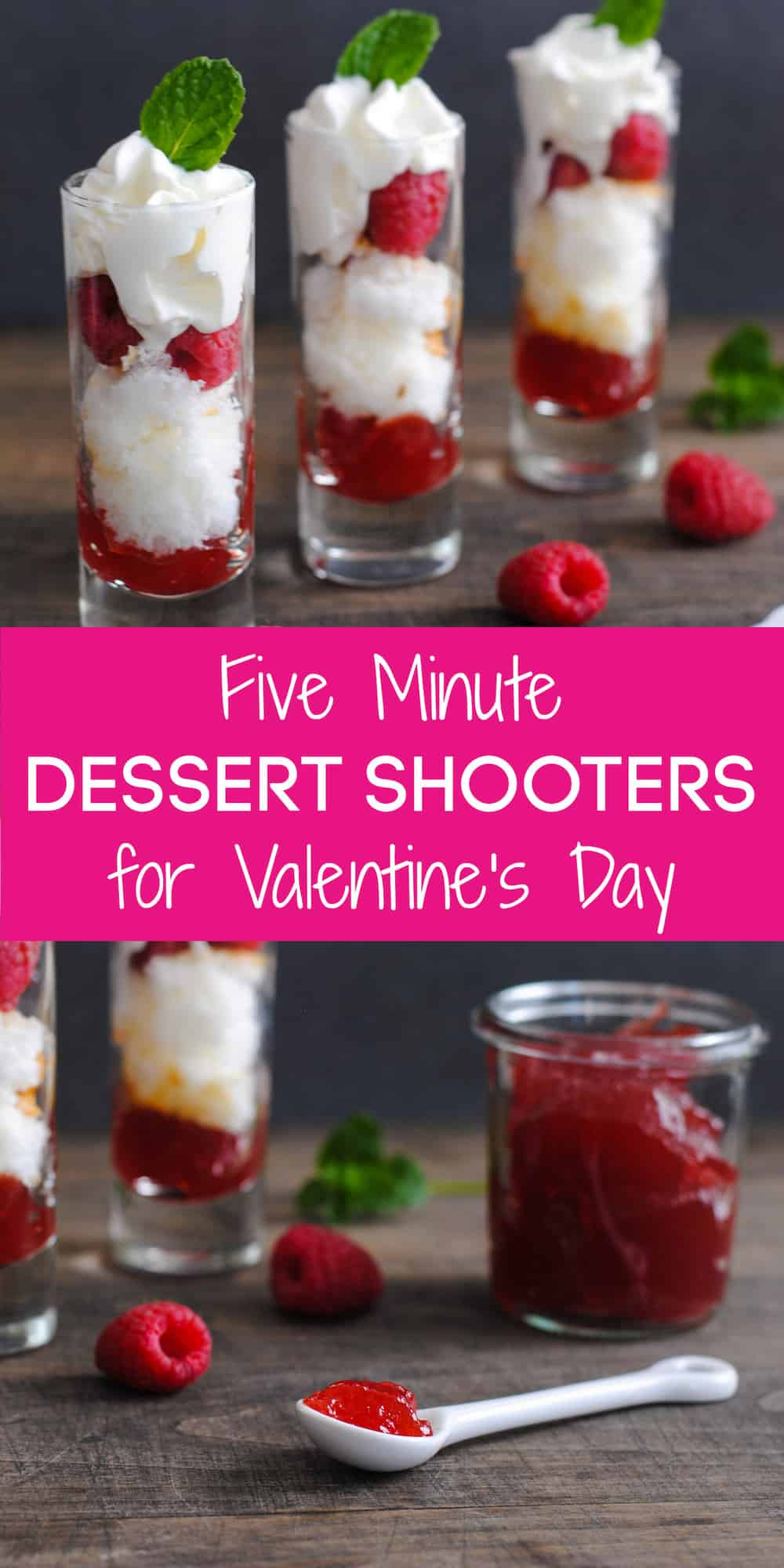 Looking for a light Valentine's Day Dessert after a decadent meal? These five minute shooters are a simple, fresh and sweet treat for your Valentine! | foxeslovelemons.com