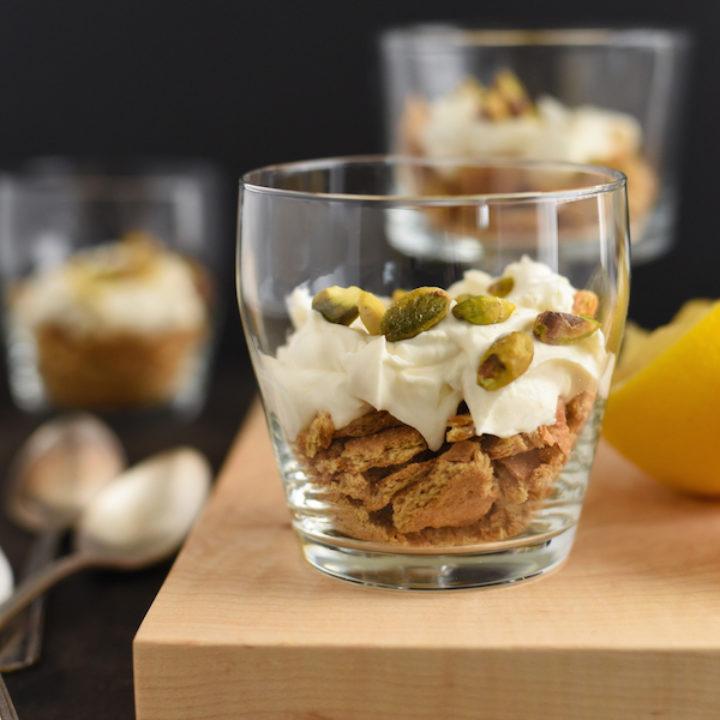 Lemon Mascarpone, Graham Cracker & Pistachio Parfaits