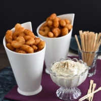 Popcorn Shrimp with Parmesan-Peppercorn Sauce - A quick fix appetizer that impresses!   foxeslovelemons.com