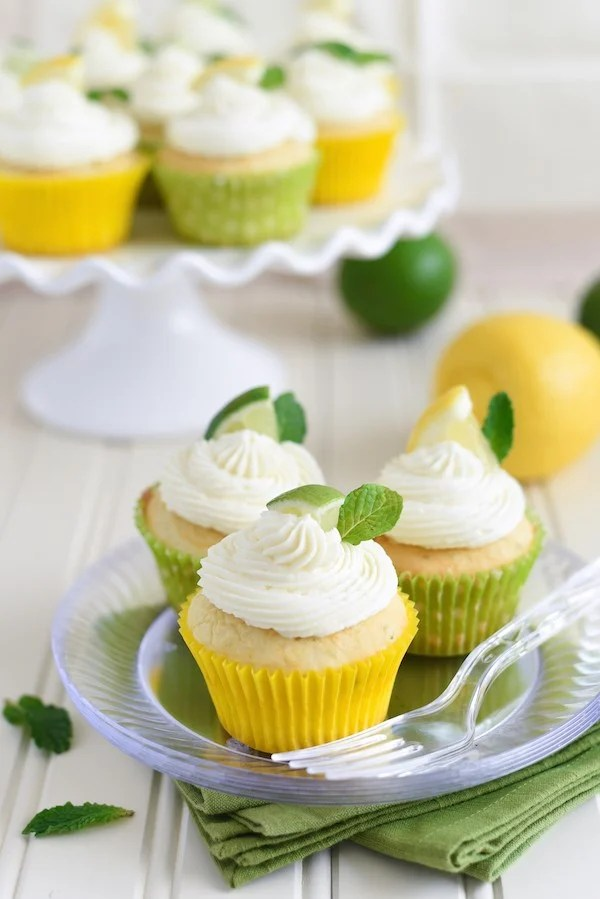 Triple Citrus Cupcakes - Turn cake mix into a special Spring treat! | foxeslovelemons.com