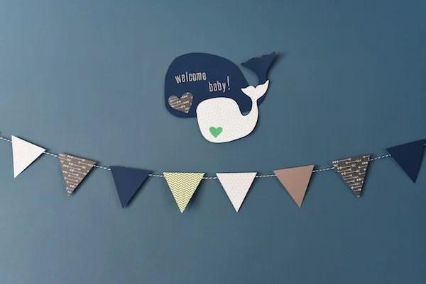 Whale-Themed Baby Shower | foxeslovelemons.com