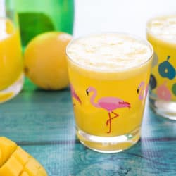 Sparkling Mango Lemonade - A fun, fizzy beverage you'll want to drink all summer long! It's completely customizable to your own tastes – make it sweeter or more tart, or spike it with a splash of vodka! | foxeslovelemons.com