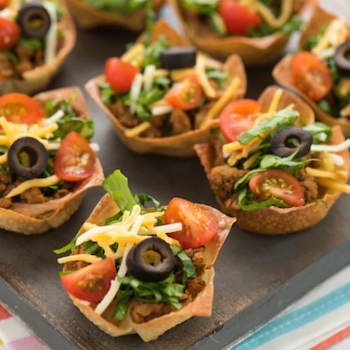 Mini Turkey Taco Salads