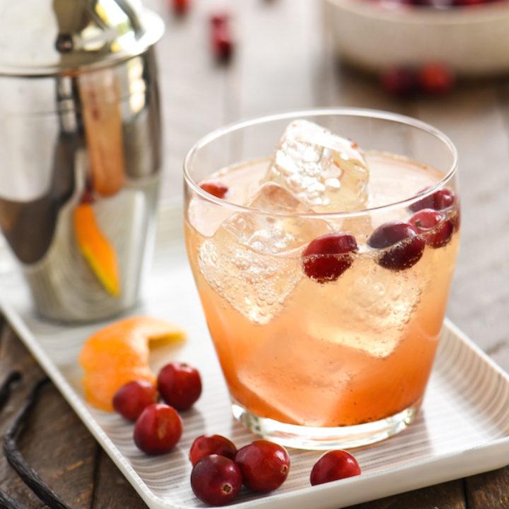 Cranberry Vanilla Gin Spritzer