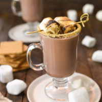 S'mores Hot Chocolate - A simple homemade hot chocolate with a special twist. Calling all s'mores lovers!   foxeslovelemons.com