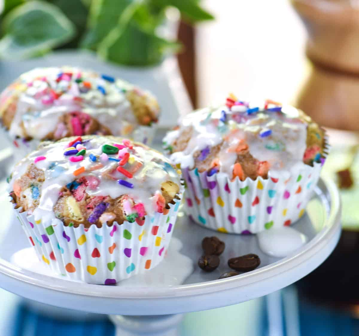 Outstanding Birthday Cake Latte Muffins Turn A Fun Coffeehouse Treat Into A Funny Birthday Cards Online Eattedamsfinfo