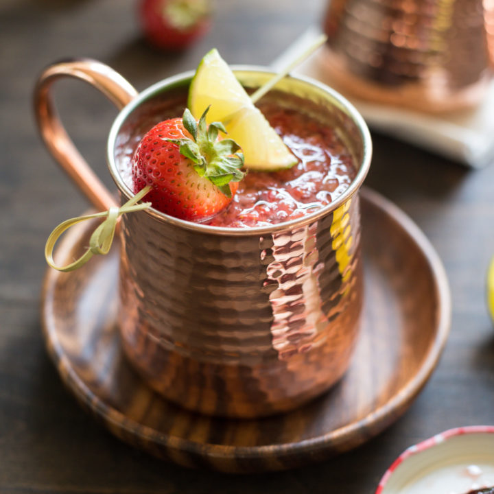 Double Strawberry Moscow Mules