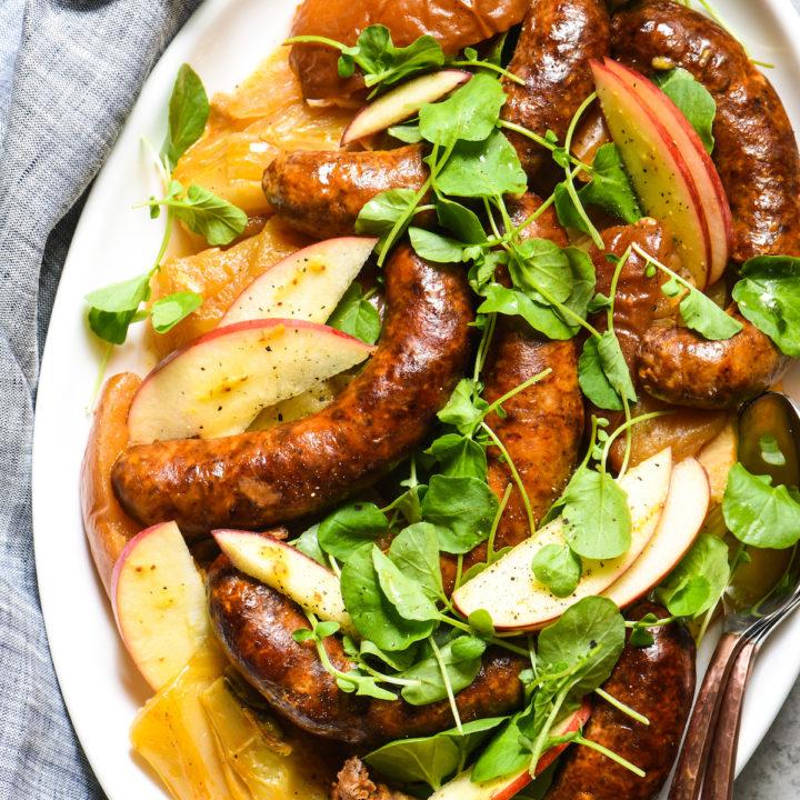 Slow Cooker Sausage, Apples & Fennel