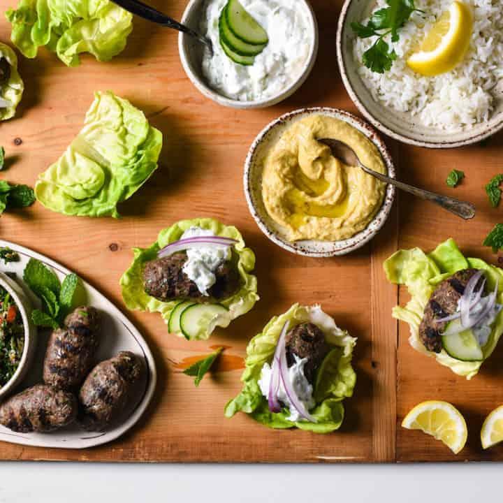 Grilled Kafta Lettuce Wraps