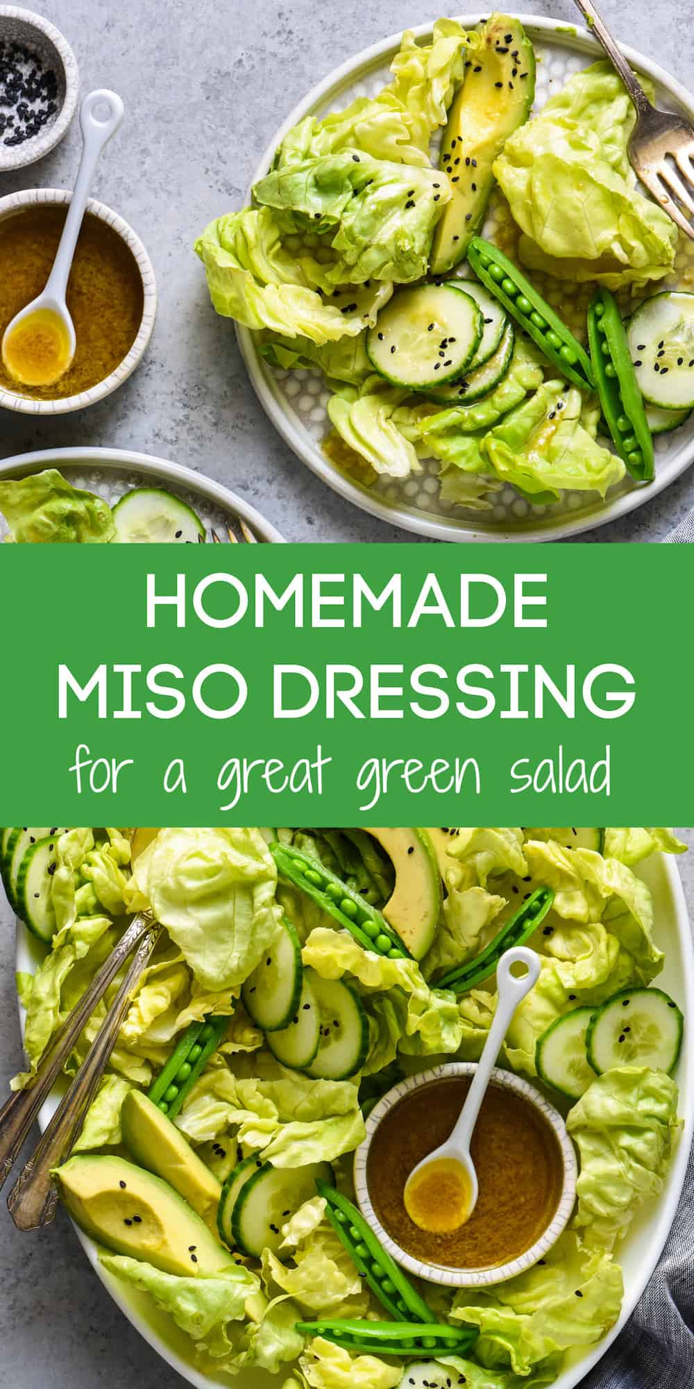 This Miso Dressing Recipe will turn any typical bowl of greens into a showstopping salad that will become the star of your meal! | foxeslovelemons.com