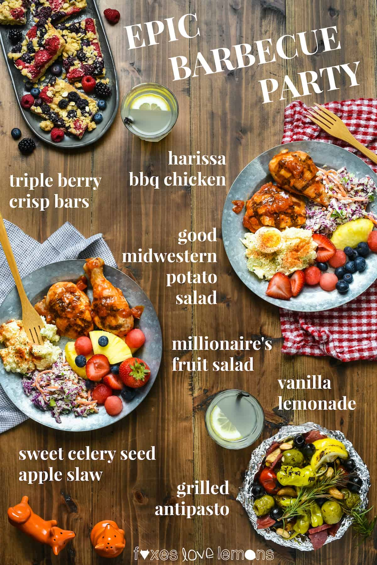 "Epic Barbecue Party - Celebrate summer by hosting a backyard party or picnic and serving this ""home chef"" menu that will be loved by all ages! 