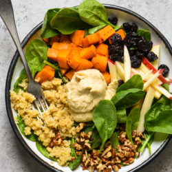 All of the ingredients for this Greens & Grains Power Lunchcan be prepped at the start of the week, and you're all set for easy, healthful and delicious meals for days to come! Naturally gluten free, dairy free and vegan!