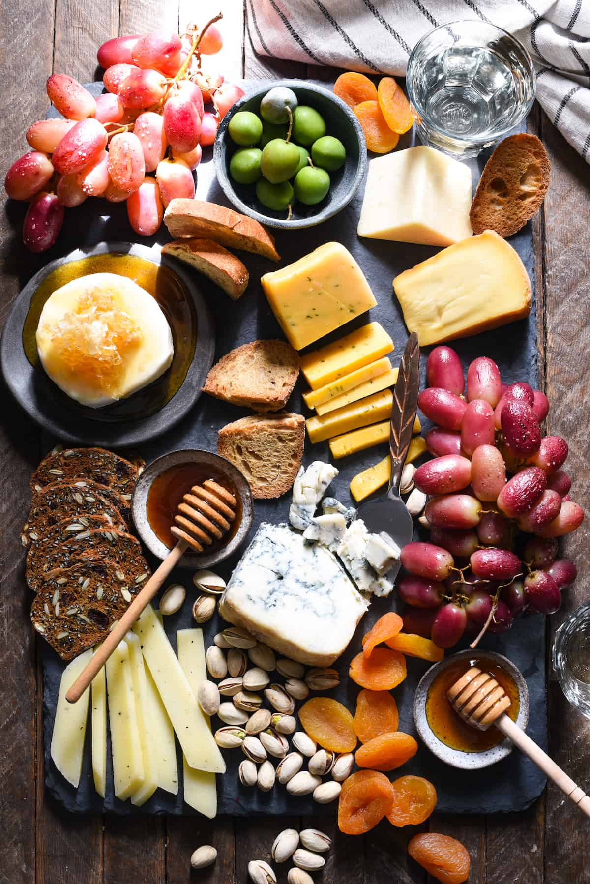 Market Cheese Board with Roasted Grapes | foxeslovelemons.com