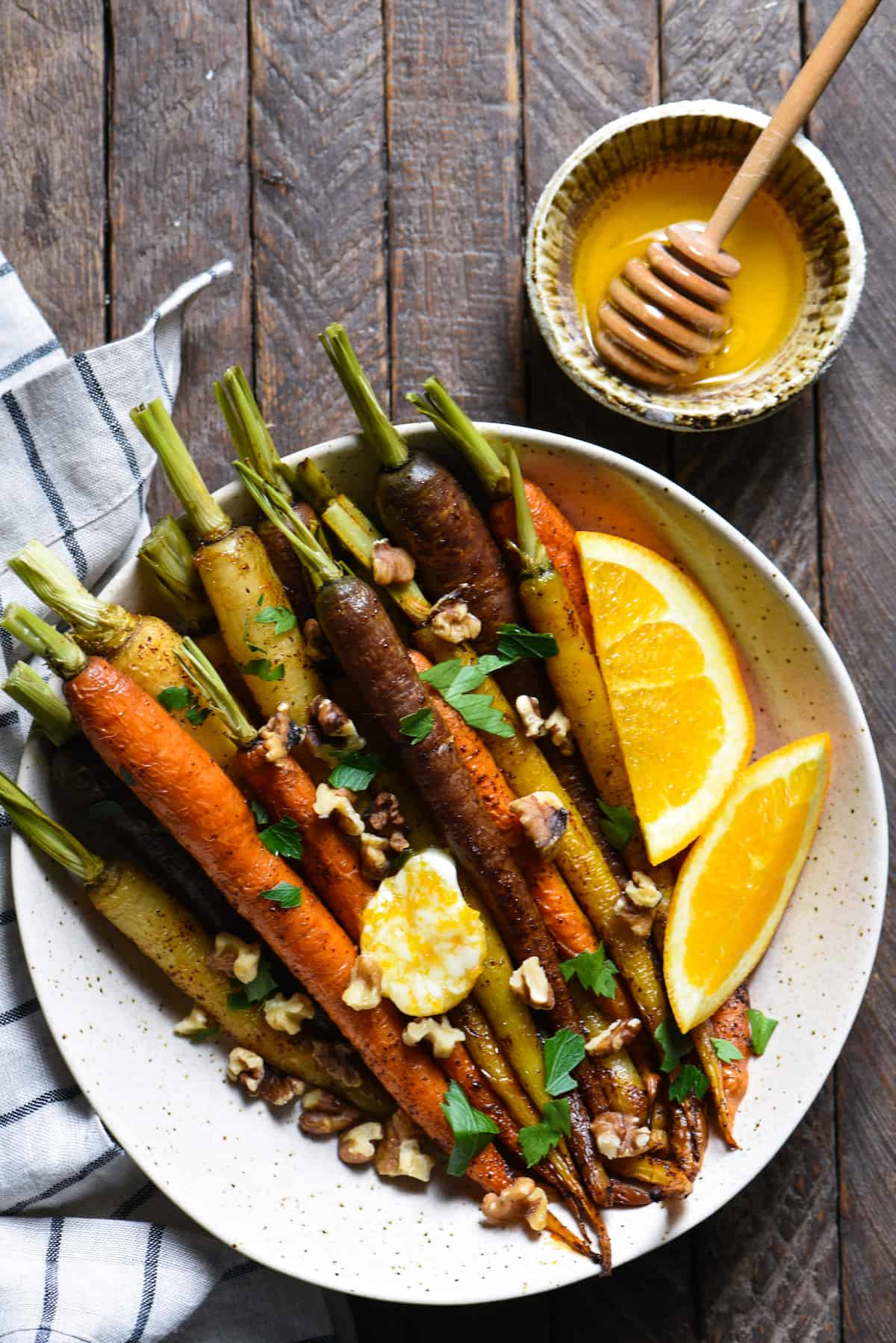 Roasted Carrots with Orange Honey Butter | foxeslovelemons.com
