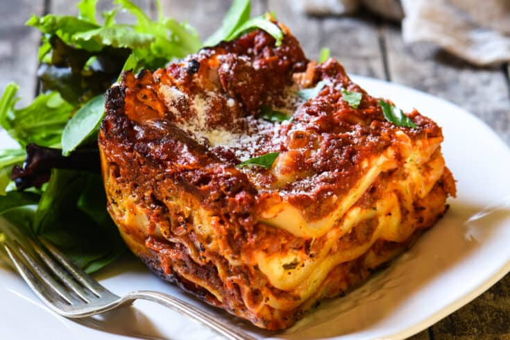 Lasagna with Cottage Cheese