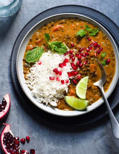 This Vegan Lentil Curry is a healthful one-pot meal packed with layers of flavor, using ingredients easy to find at your grocery store. Perfect for a meatless Monday dinner, or any time your meal planning could use a reset button.   foxeslovelemons.com
