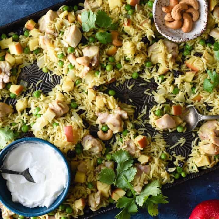 Sheet Pan Chicken & Apple Curry