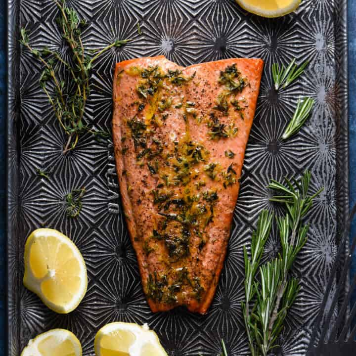 Lemon Herb Baked Sockeye Salmon Recipe