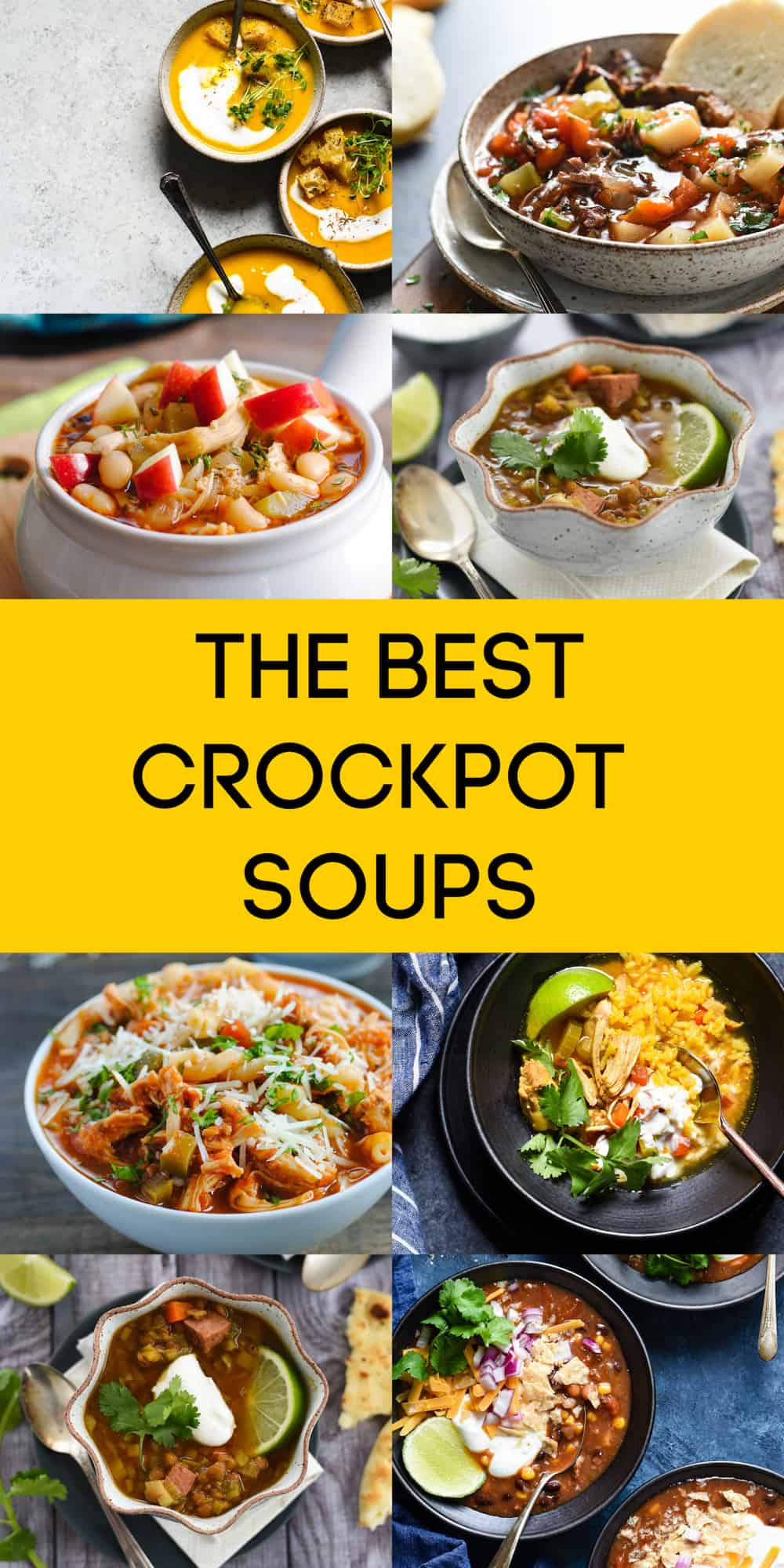 Looking for an easy slow cooker soup? These crockpot soup recipes have been made many times over the years, and they're all tried and true. Small effort and big flavor! | foxeslovelemons.com
