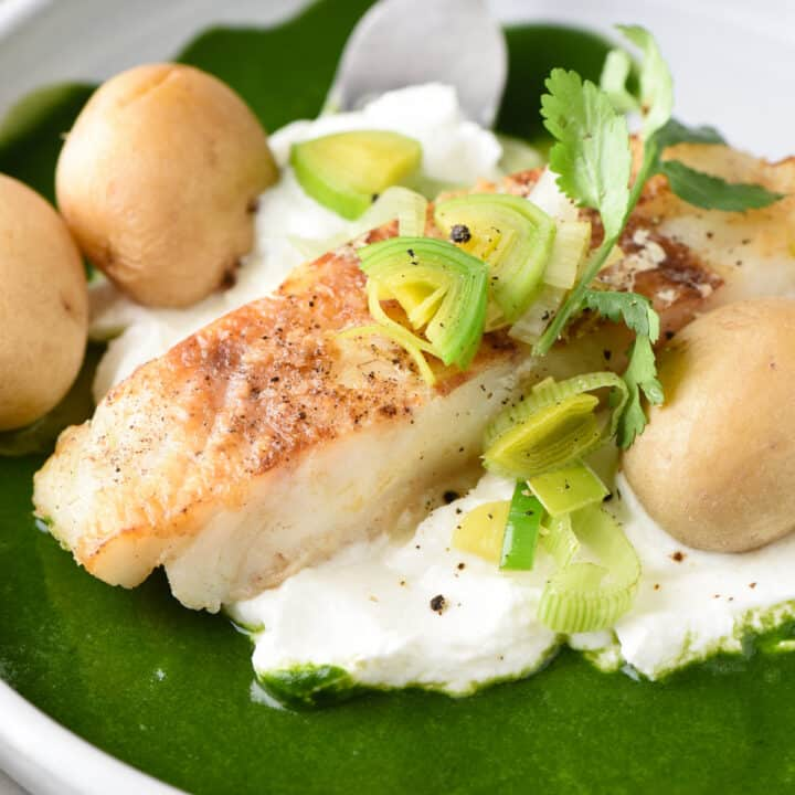 Chilean Sea Bass With Potatoes Herb Sauce Foxes Love Lemons