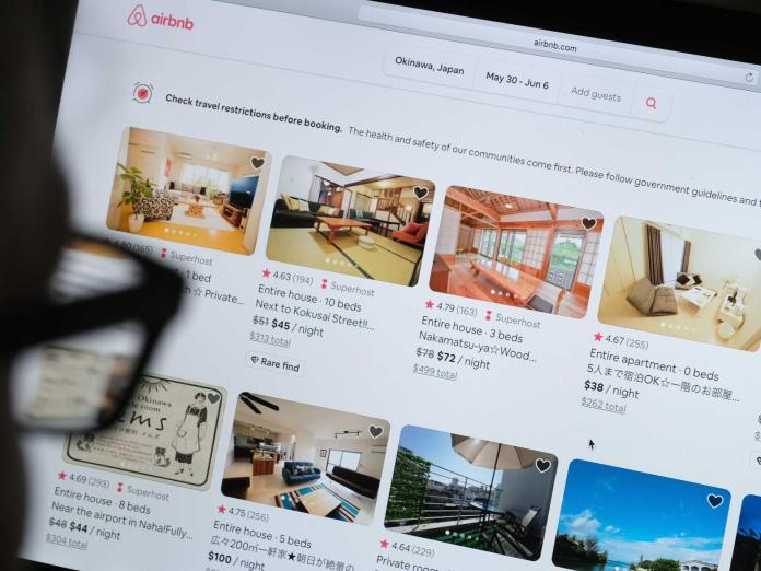 "Rich search results on Google when searched for ""Airbnb"""