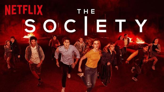 The images is a poster of the netflix series The Society
