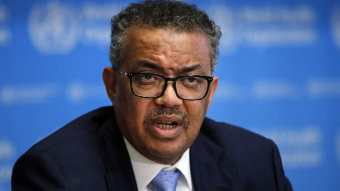 WHO's Tedros says countries on
