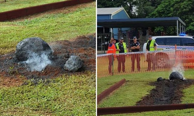 "NASA asks for report into ""Meteorite"" crash at school"