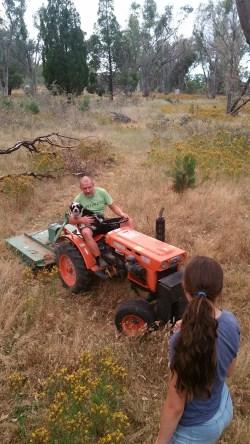 nicki-on-tractor