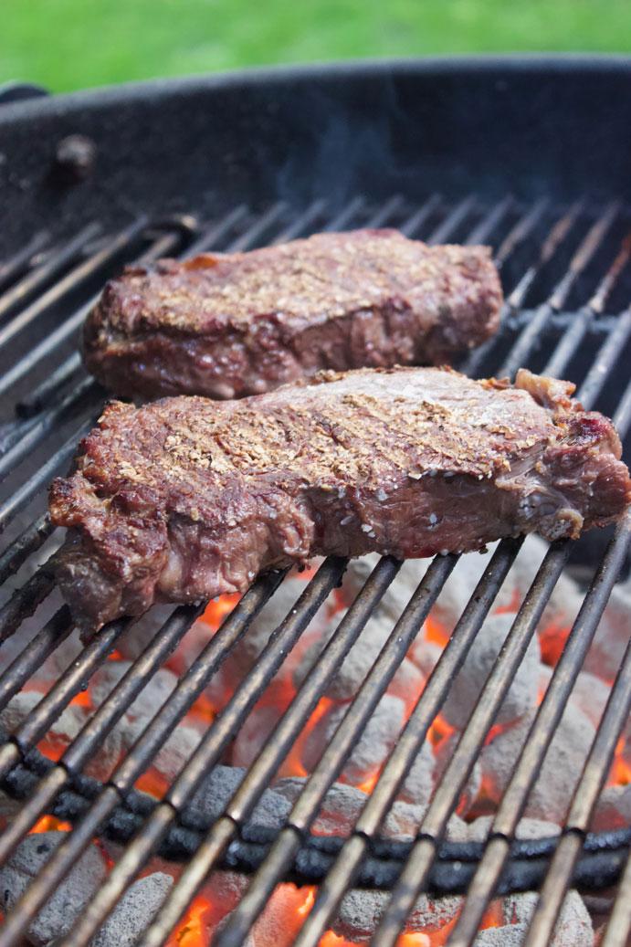 Strip Steak Cooking