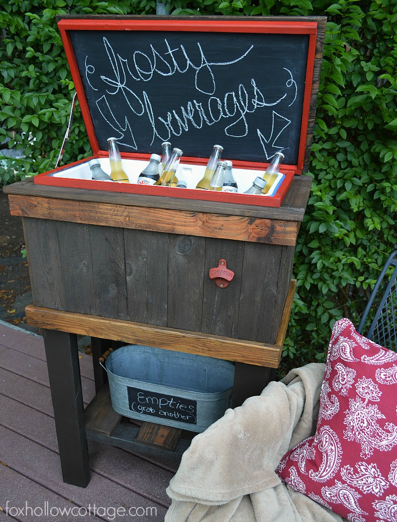 how to build a wood deck cooler fox