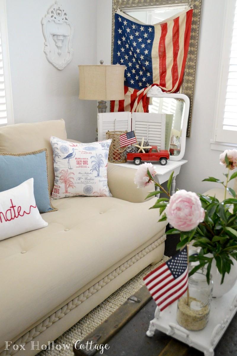 Coastal Cottage With A Patriotic Summer Twist Fox Hollow