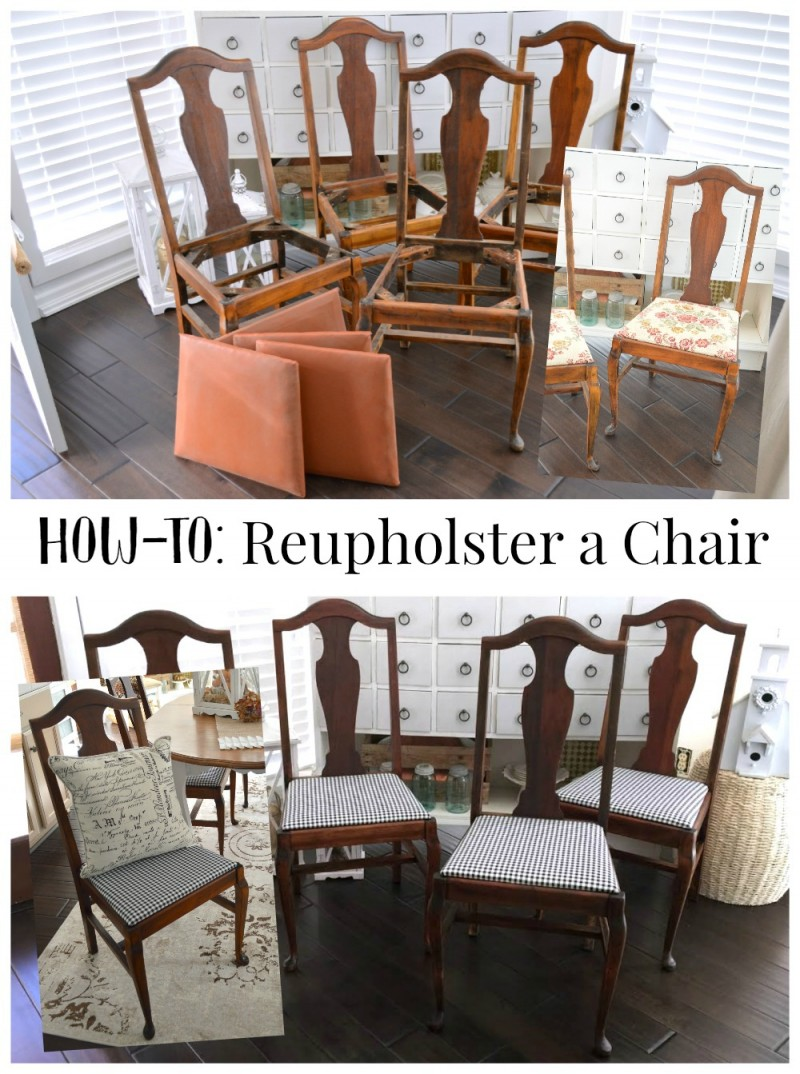 How To Reupholster a Chair - a diy tutorial