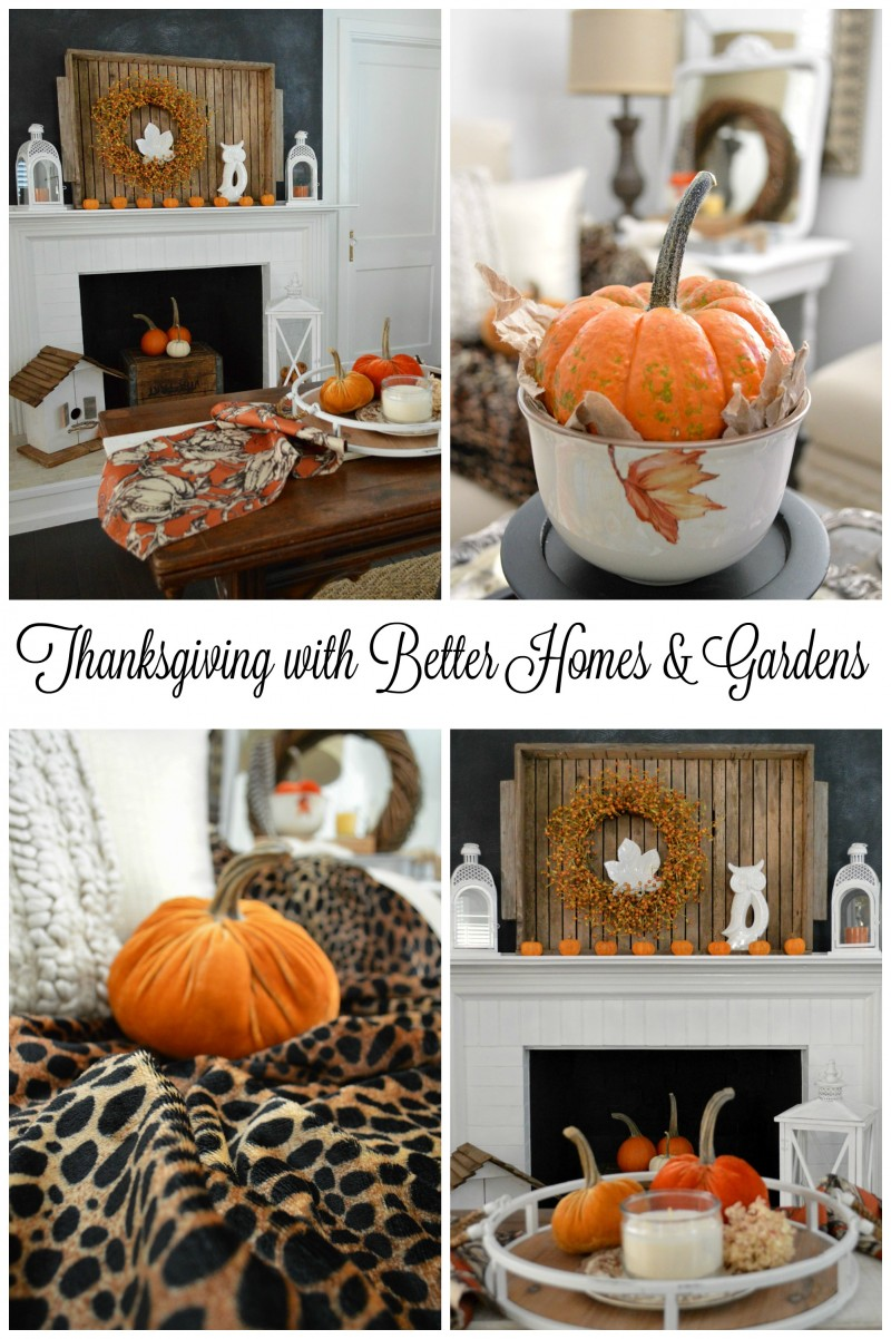 Thanksgiving In Our Home with Better Homes and Gardens   Fox Hollow     Thanksgiving with Better Homes and Gardens  Pretty and Affordable Home and  Table Decor at Walmart