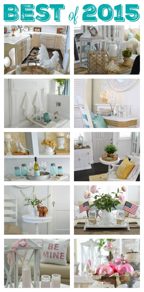 Top 15 DIY Craft and Home Decorating Projects of 2015 Top 15 DIY  Craft and Home Decorating Projects of 2015 at Fox Hollow  Cottage