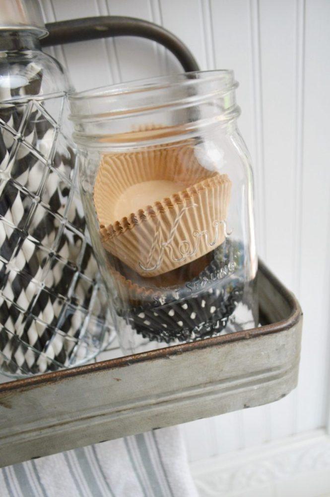 Ball Mason Jar Cupcake Liner Holder Foxhollowcottage Com Kitchen Decor