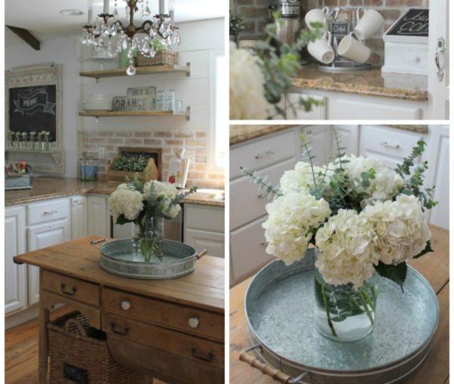 White Farmhouse Kitchen Home Tour At Gracie Blue