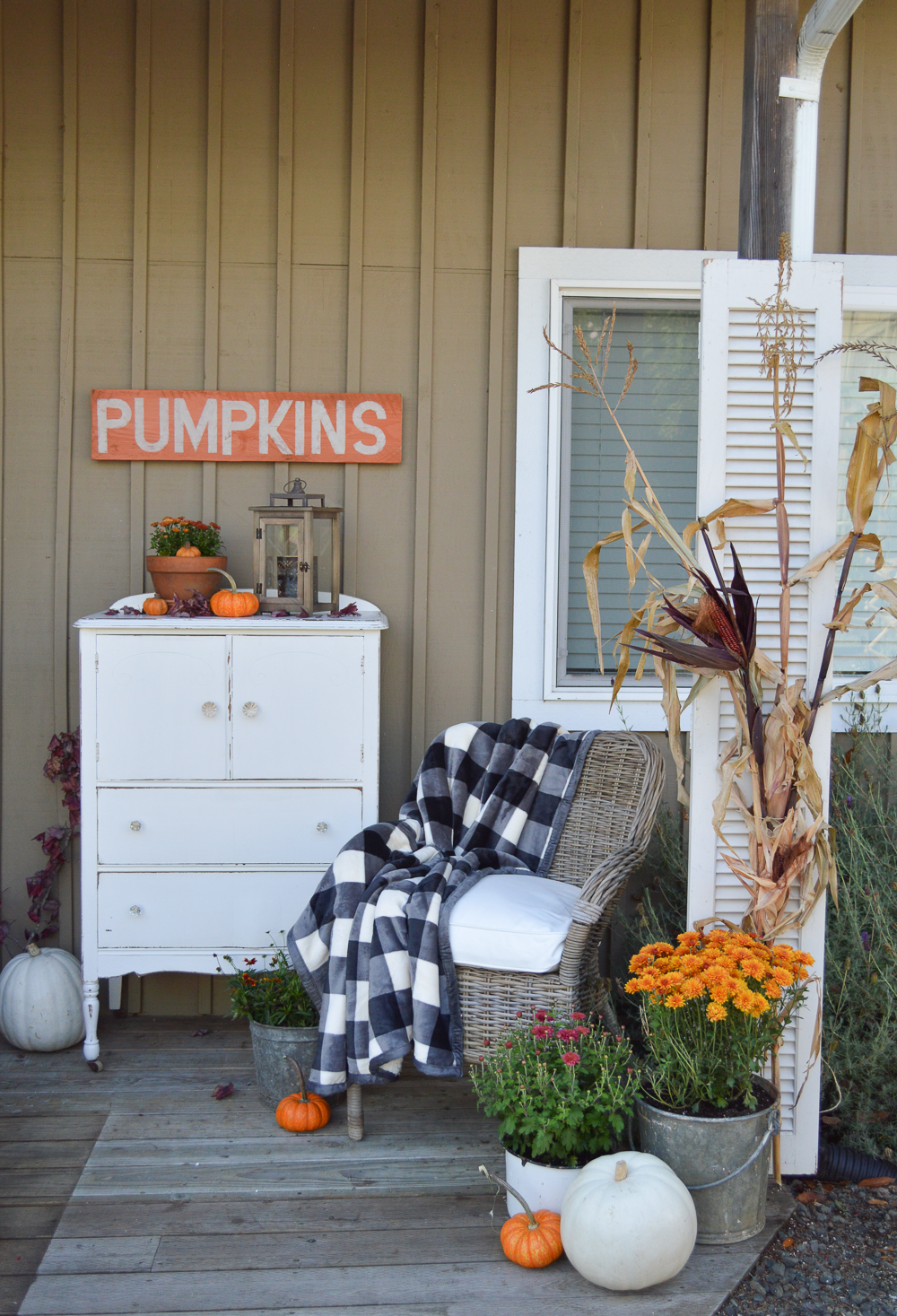 Vintage Cottage Fall Porch