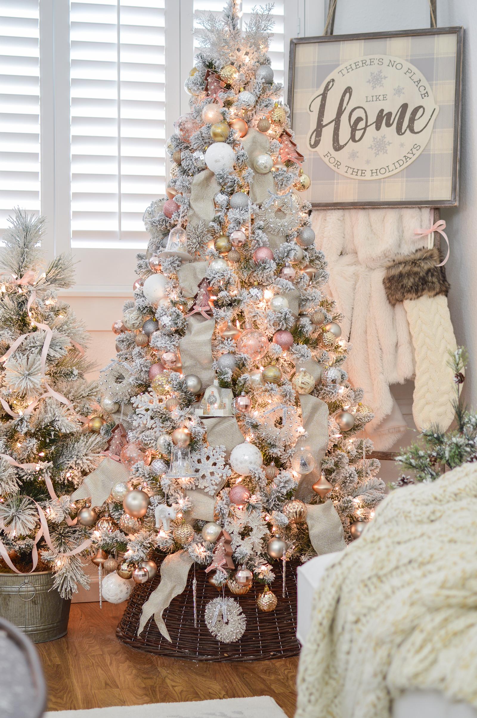 My 79 Pre Lit Flocked Christmas Tree Fox Hollow Cottage