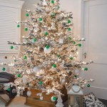 Our Silver Gold And Green Christmas Tree Fox Hollow Cottage