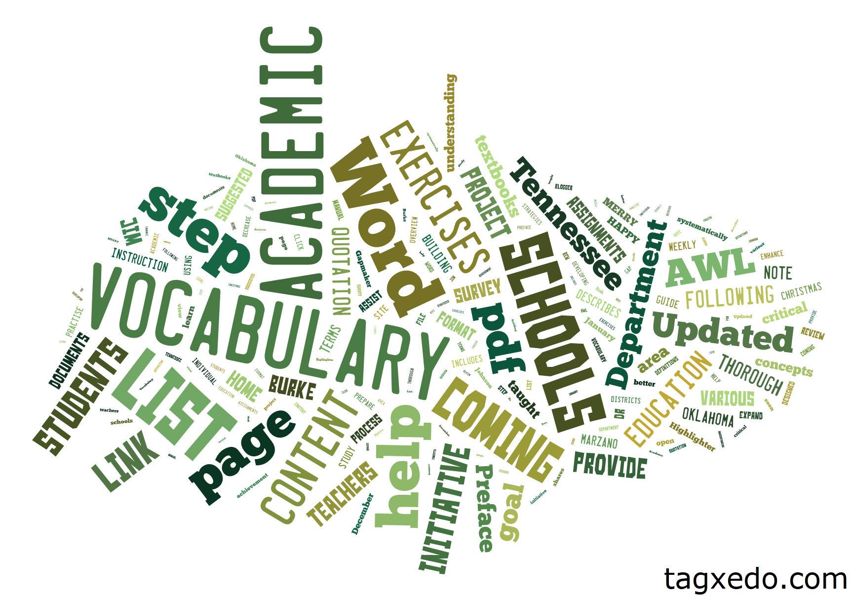 List Of Academic Vocabulary