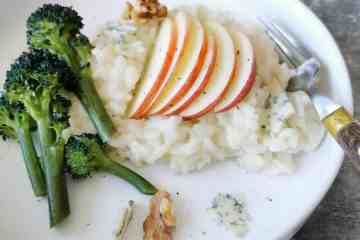 Vegetarische risotto met blauwe kaas