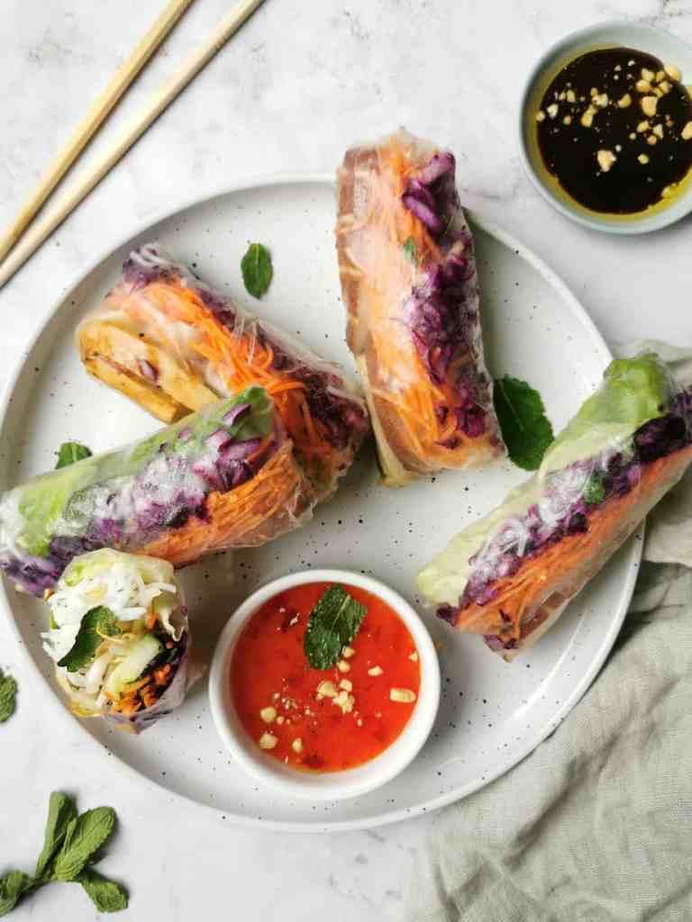 Vegetarische loempia met tofu