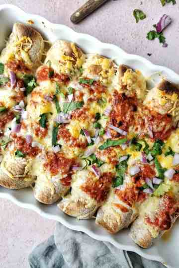 Wraps met zoete aardappel mexicaans