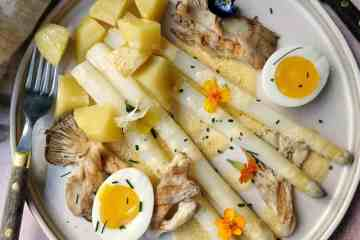 Witte asperges vegetarisch