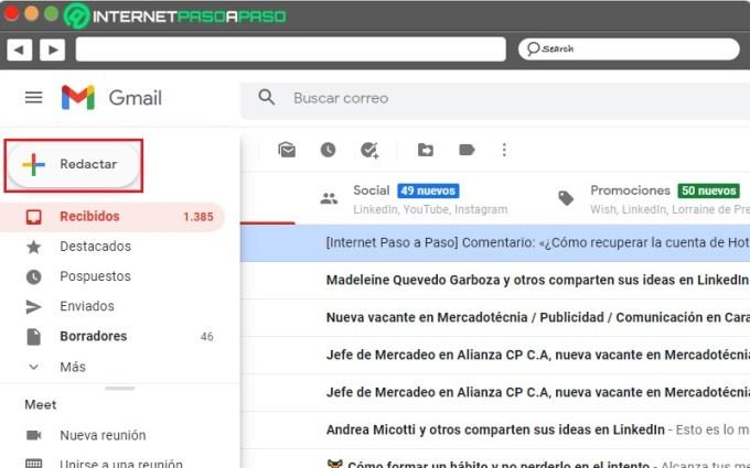 redactar un correo electrónico de gmail