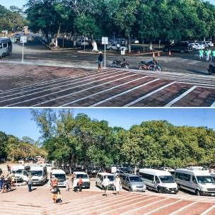 8AM vs 11AM Chichen Itza parking lot