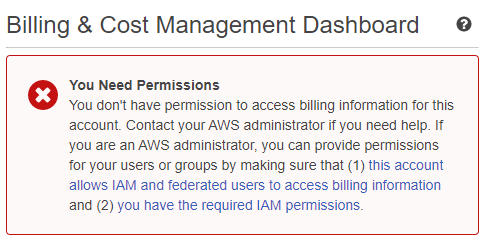 How-to allow AWS IAM users access to Billing Dashboard